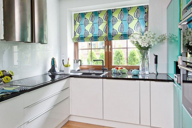 modern country kitchen curtains photo - 6