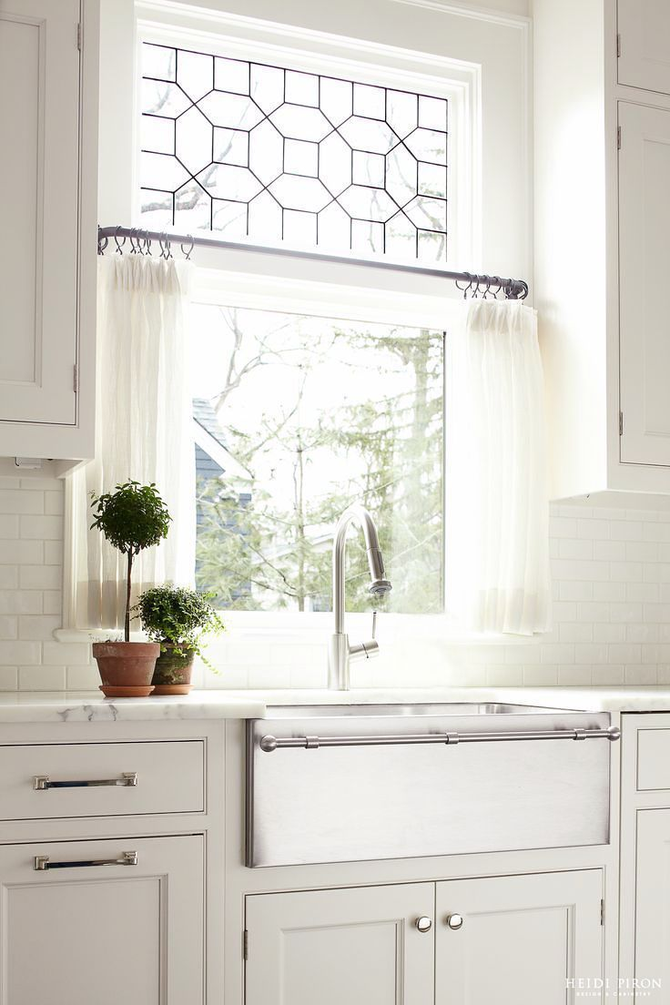 modern country kitchen curtains photo - 7