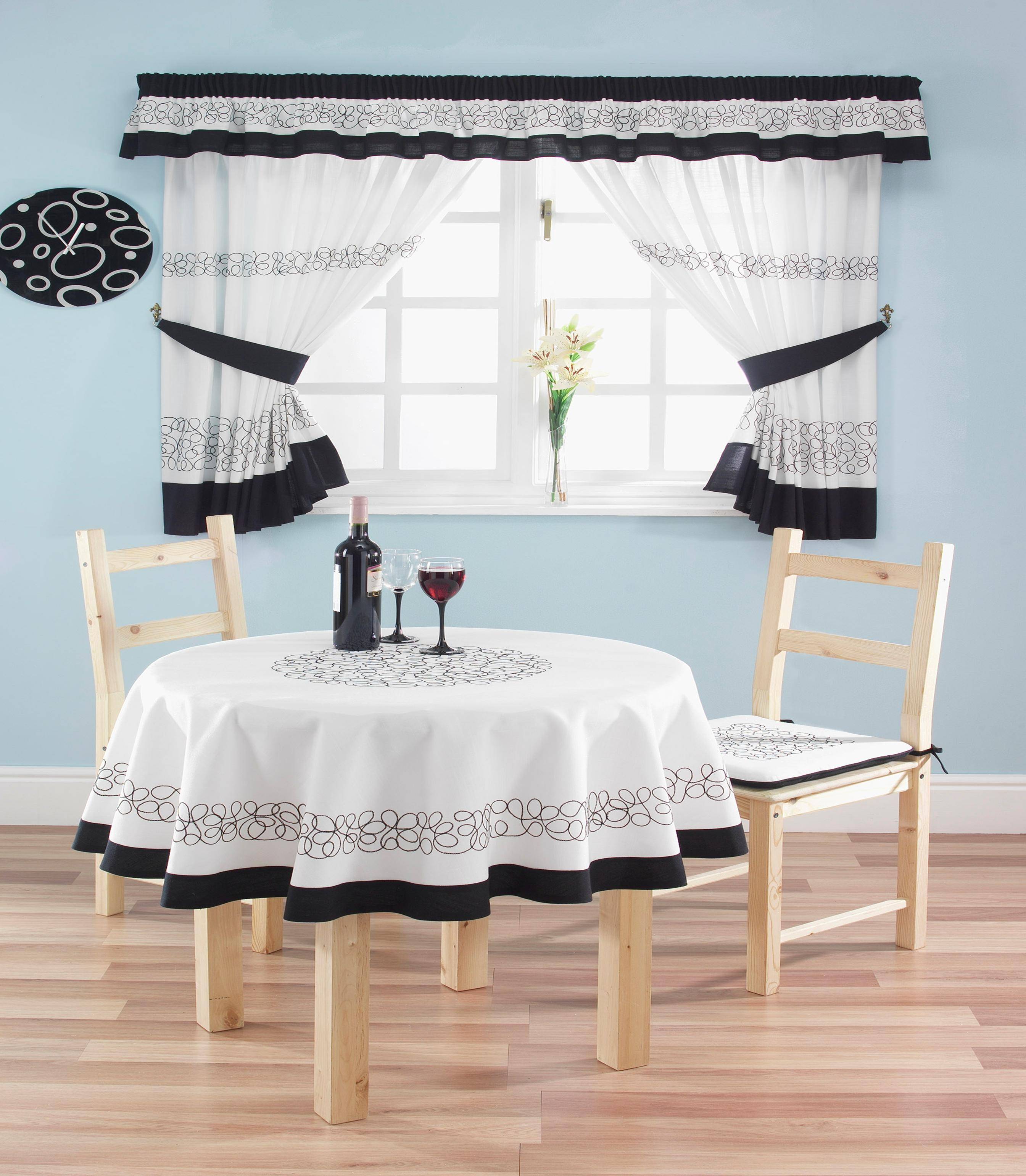 modern country kitchen curtains photo - 8