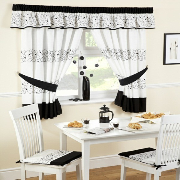 modern country kitchen curtains photo - 9