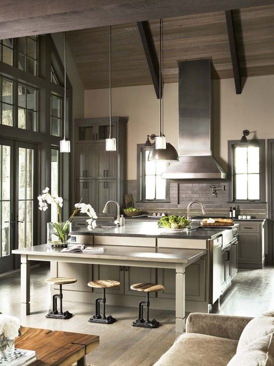 modern country kitchen decorating ideas photo - 7