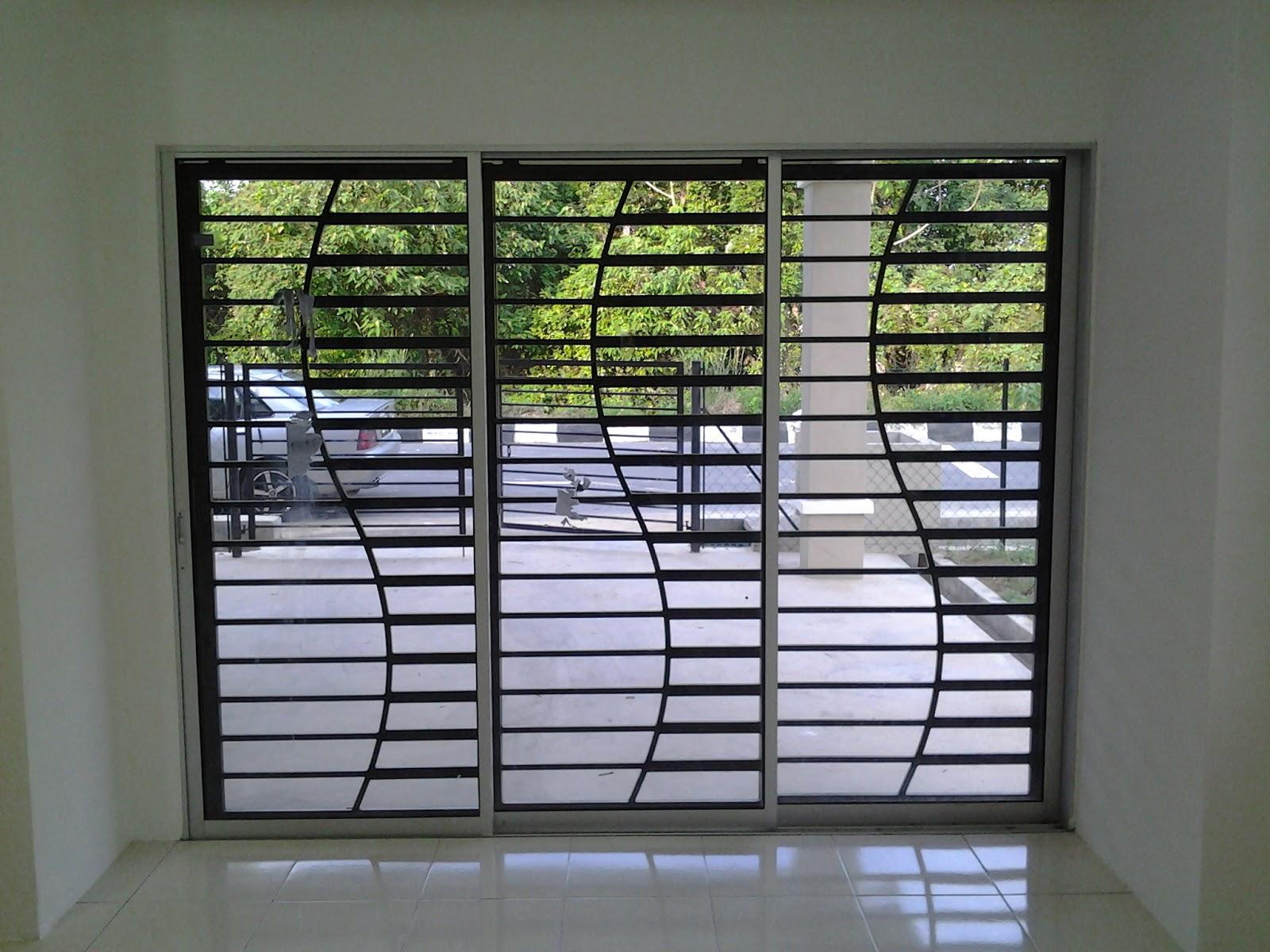modern door grill design photo - 6