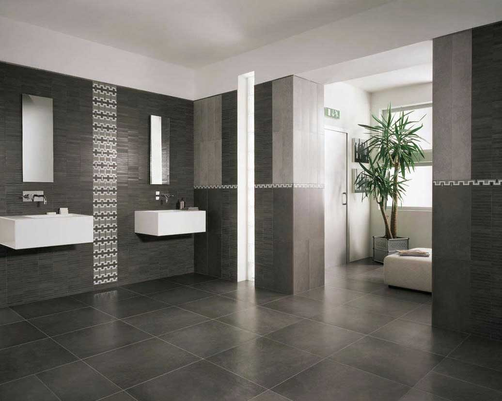 modern floor tiles bathroom photo - 4