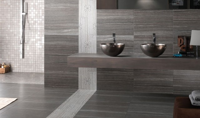 modern floor tiles bathroom photo - 7