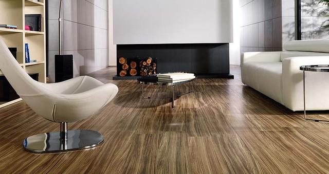 modern floor tiles living room photo - 3
