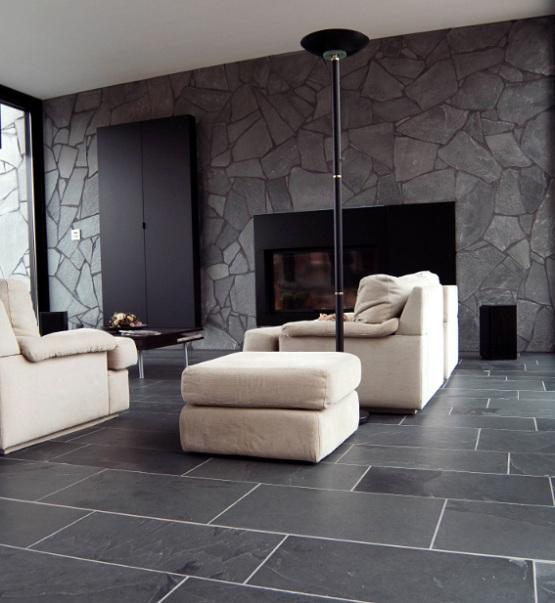 modern floor tiles living room photo - 8