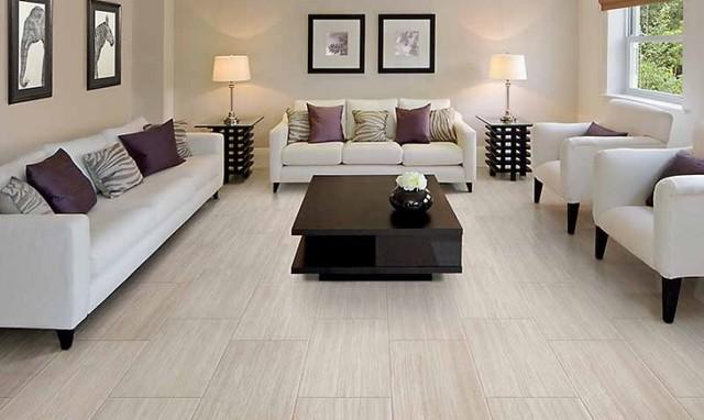 modern floor tiles living room photo - 9