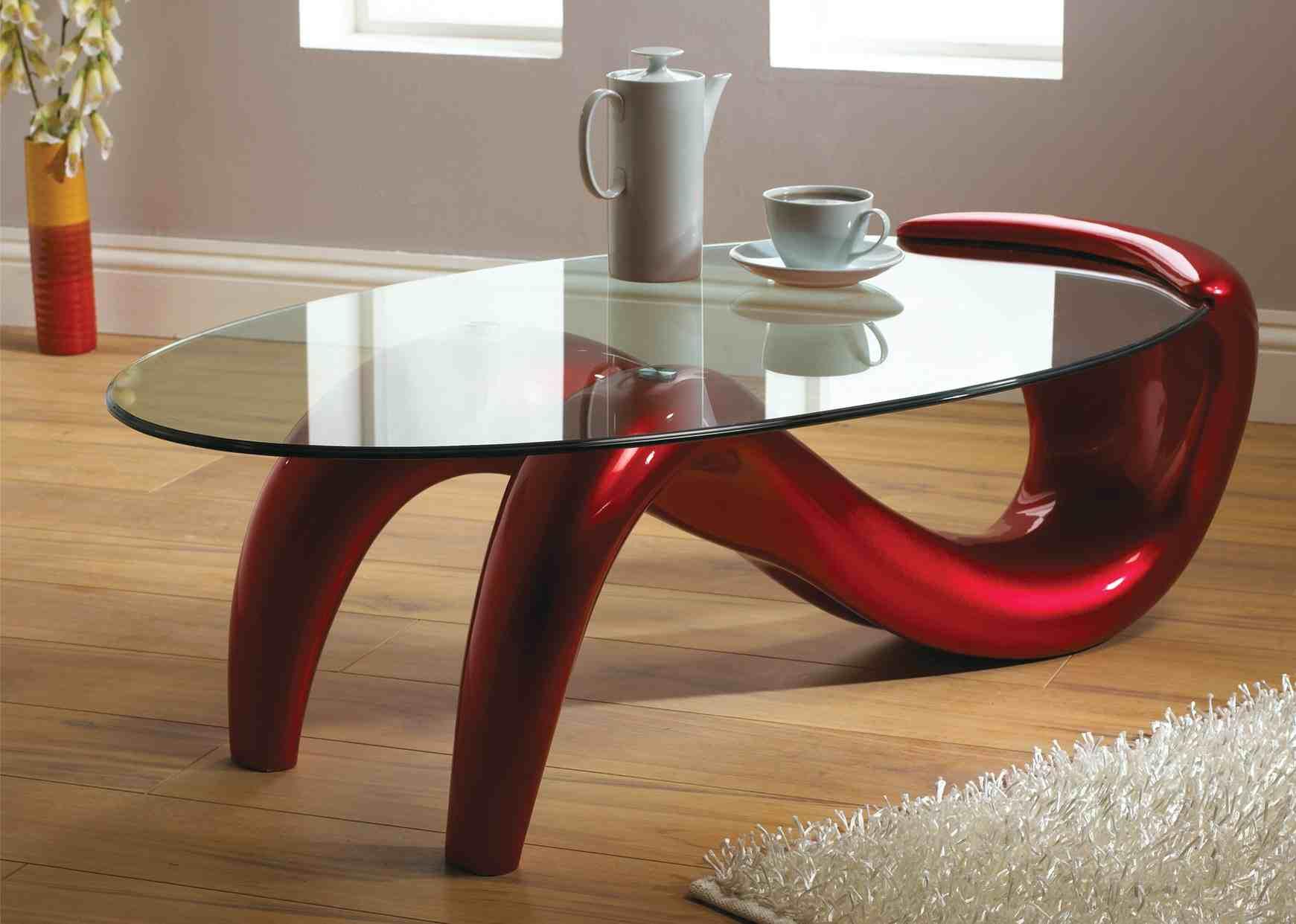 modern glass coffee table designs photo - 3