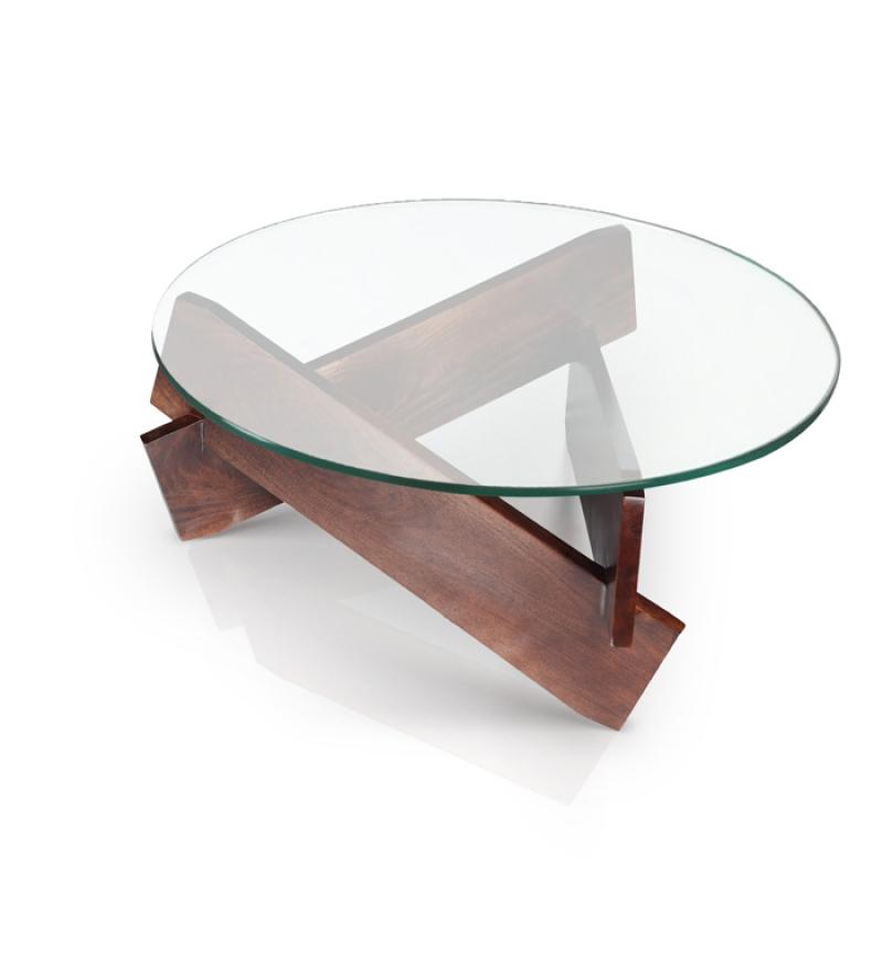 modern round coffee table glass photo - 10