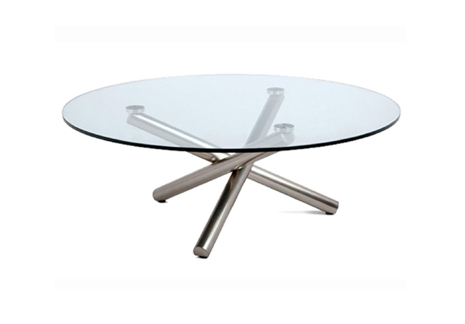 modern round coffee table glass photo - 2
