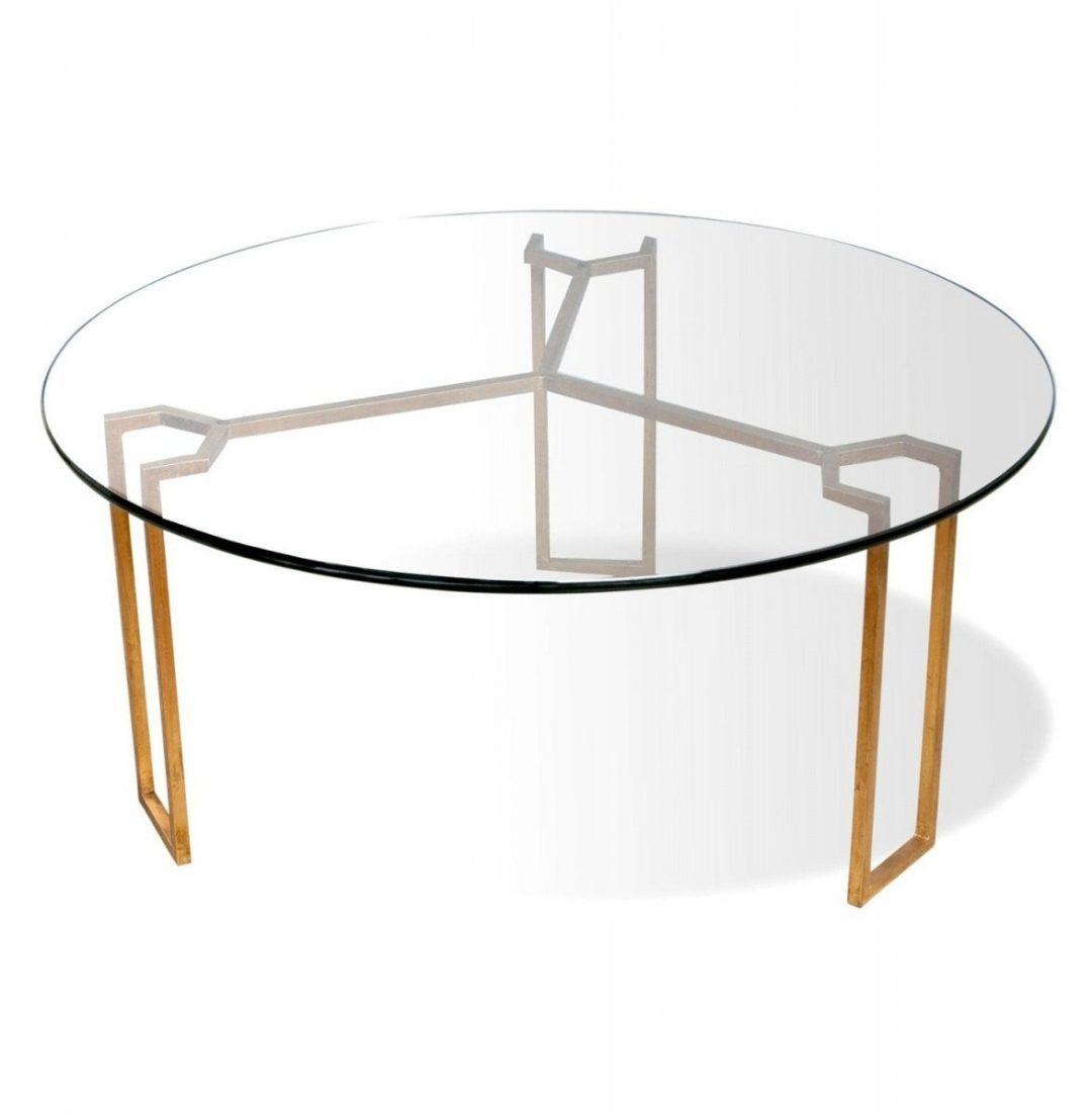 modern round coffee table glass photo - 5