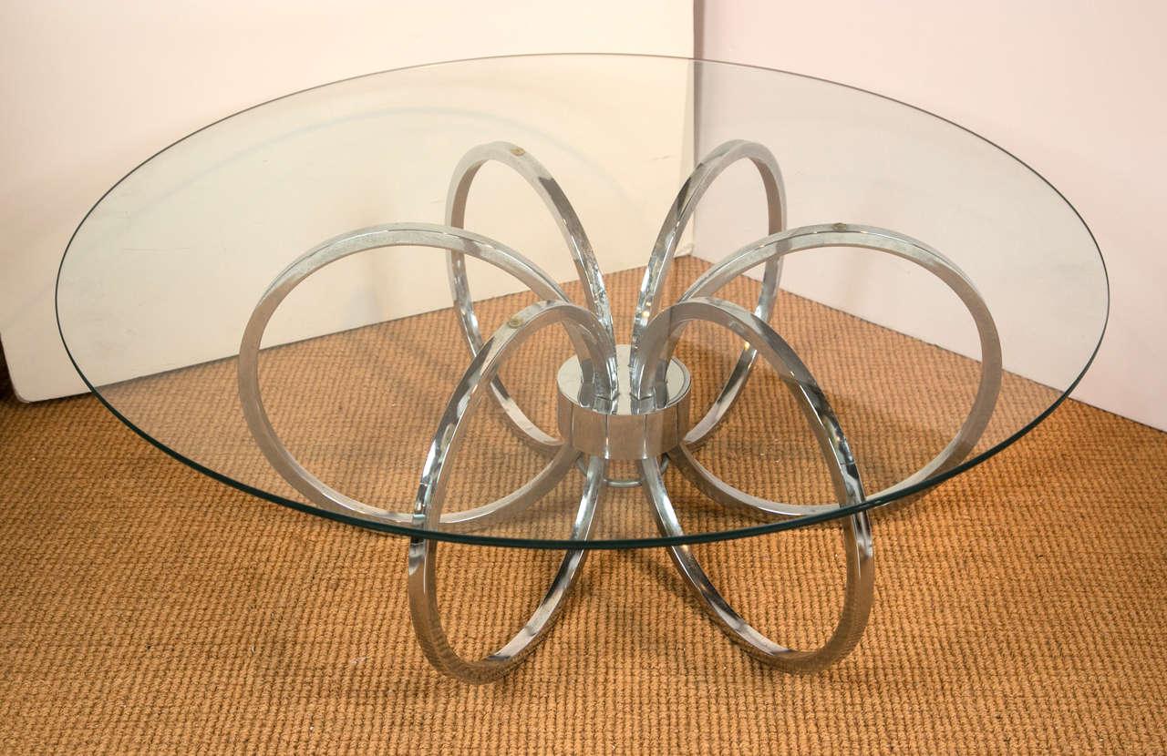 modern round coffee table glass photo - 7