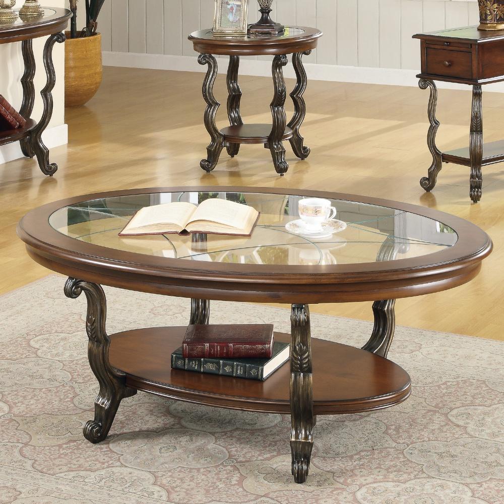 modern round coffee table glass photo - 8