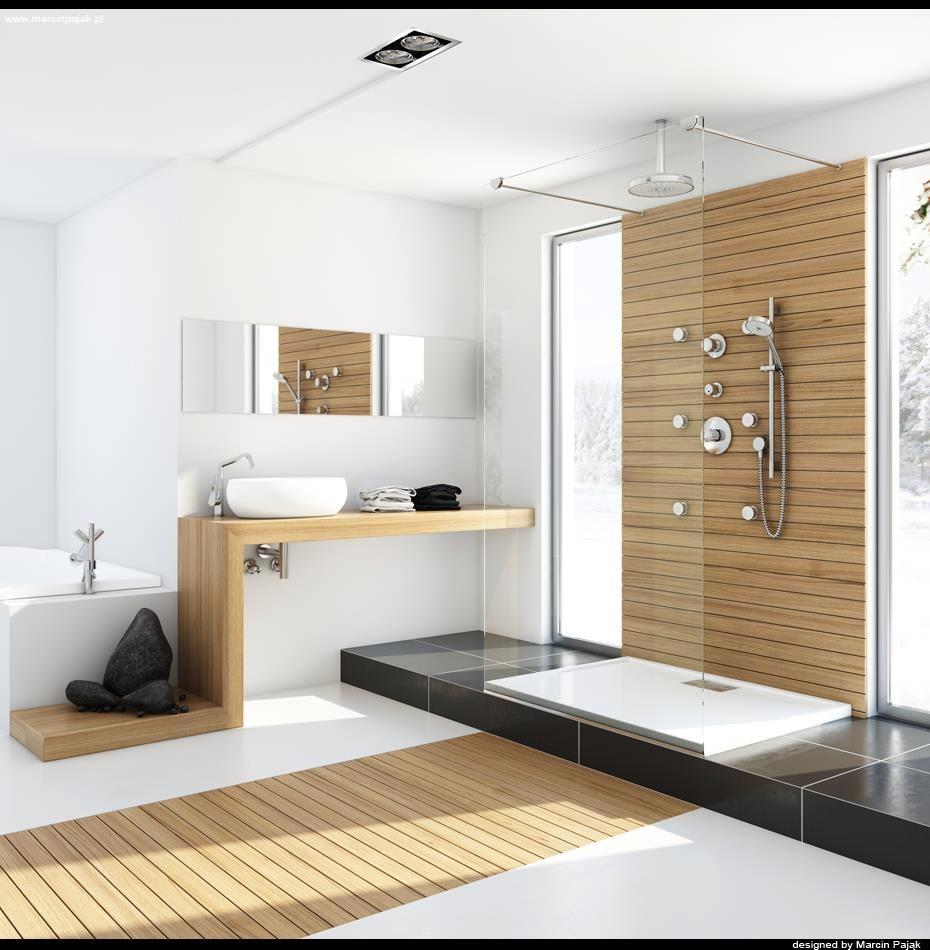 modern spa bathroom design photo - 1