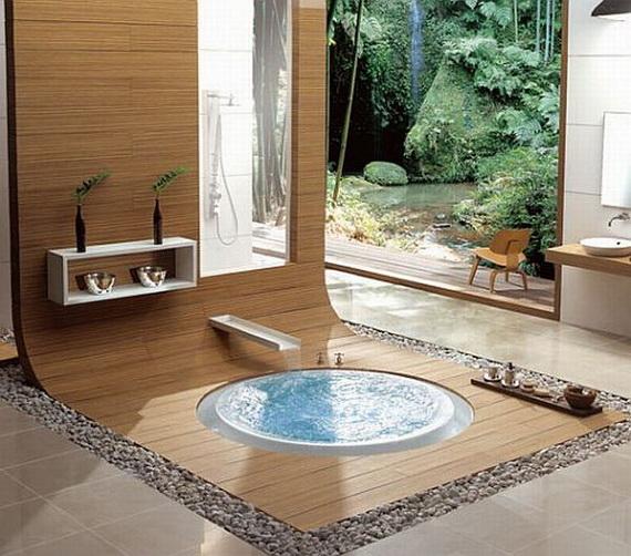 modern spa bathroom design photo - 3