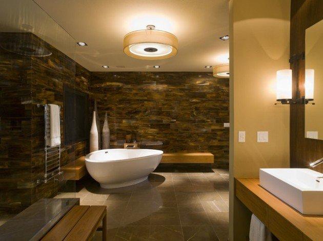 modern spa bathroom design photo - 5