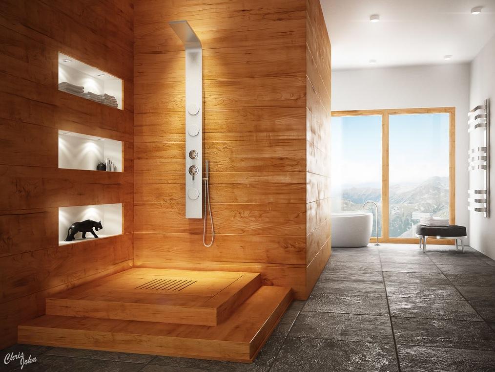 modern spa bathroom design photo - 7