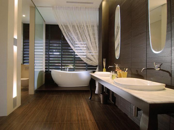 modern spa bathroom design photo - 8