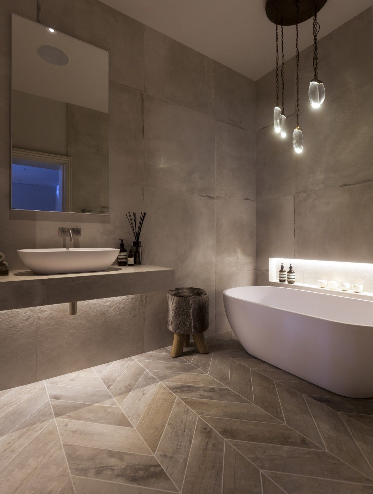 modern spa bathroom design photo - 9