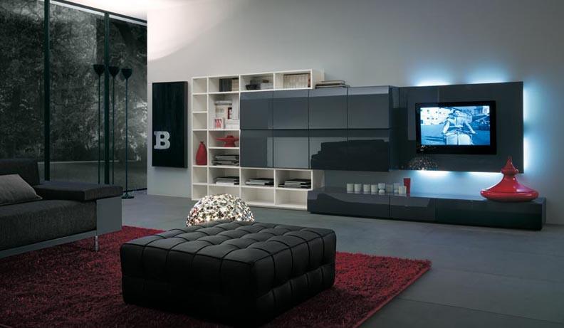 modern tv unit design ideas photo - 3