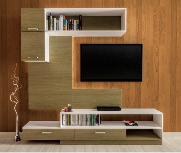 modern tv unit design ideas photo - 5