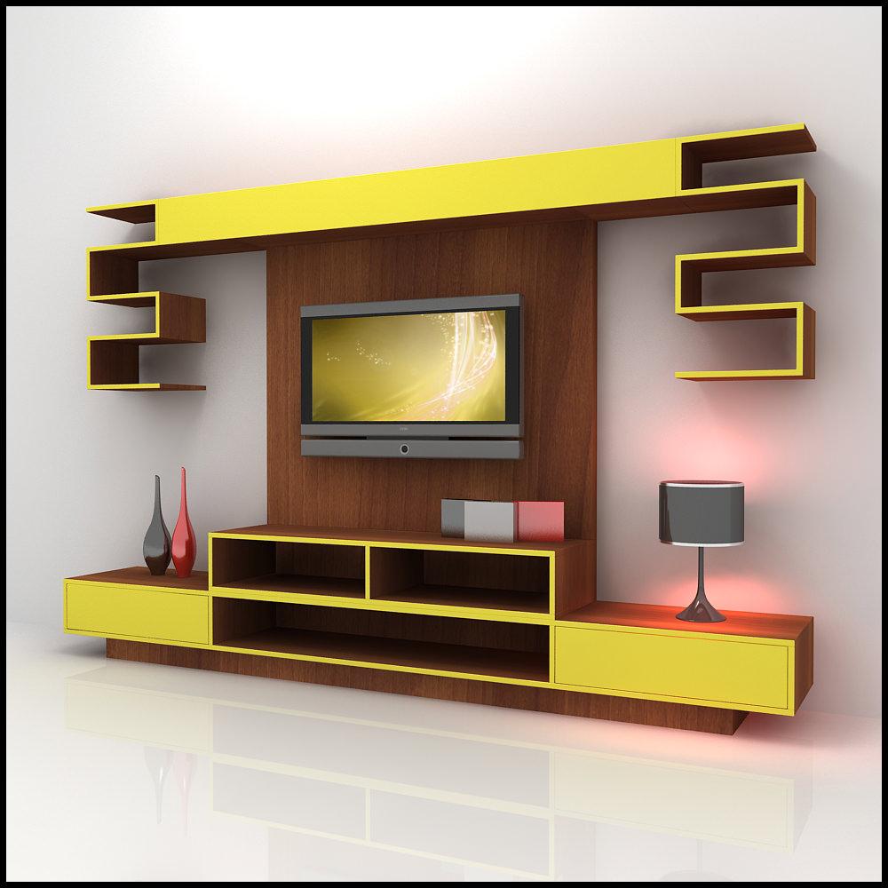 modern tv unit design ideas photo - 8