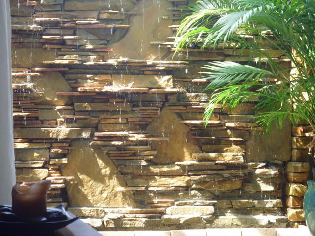 modern wall water fountains photo - 5