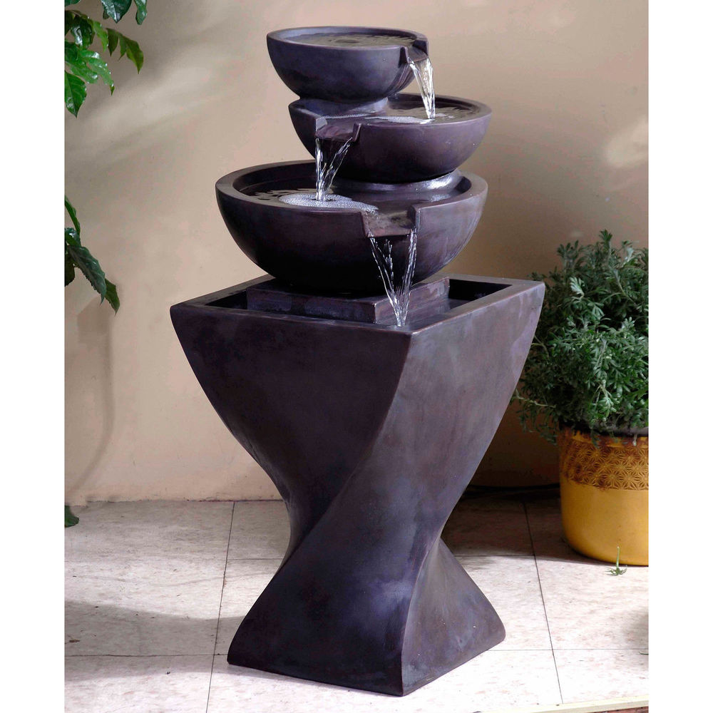 modern water fountains home photo - 10