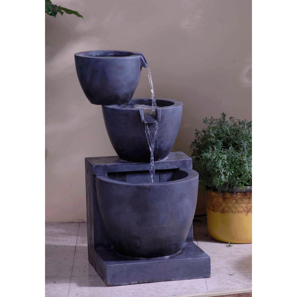 modern water fountains indoor photo - 2