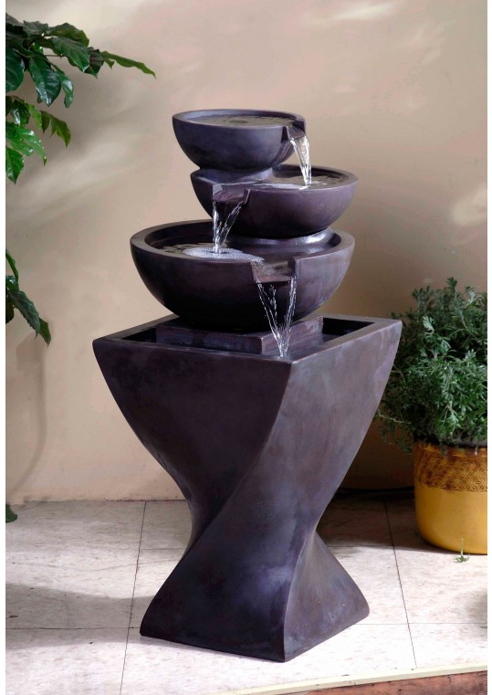 modern water fountains indoor photo - 6