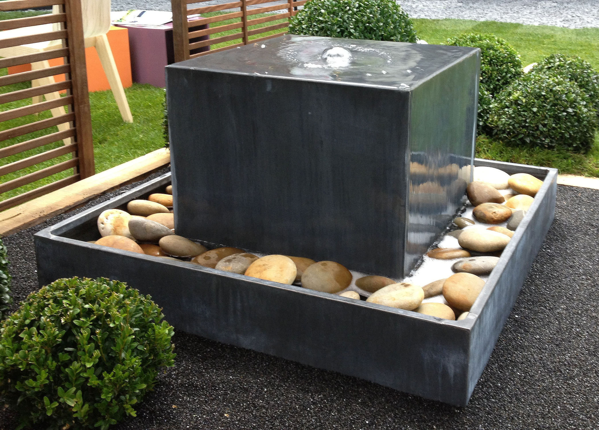 modern water fountains outdoor photo - 10