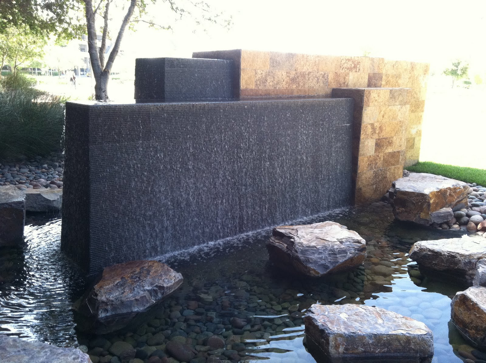 modern water fountains outdoor photo - 3