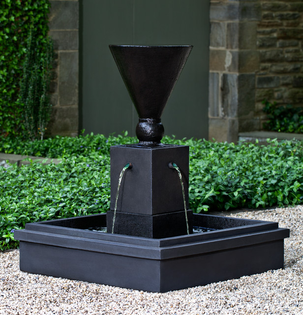 modern water fountains outdoor photo - 5