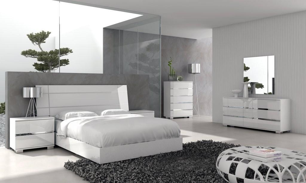 modern white bedroom furniture sets photo - 1