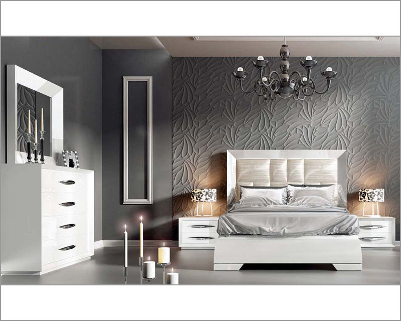 modern white bedroom furniture sets photo - 2