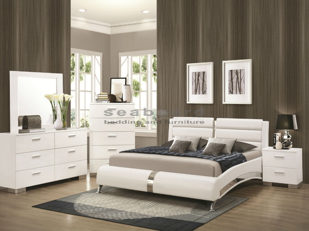modern white bedroom furniture sets photo - 3