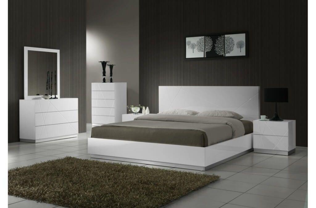 modern white bedroom furniture sets photo - 4