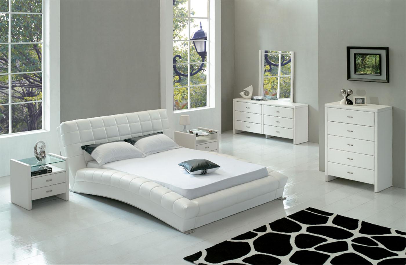 modern white bedroom furniture sets photo - 6
