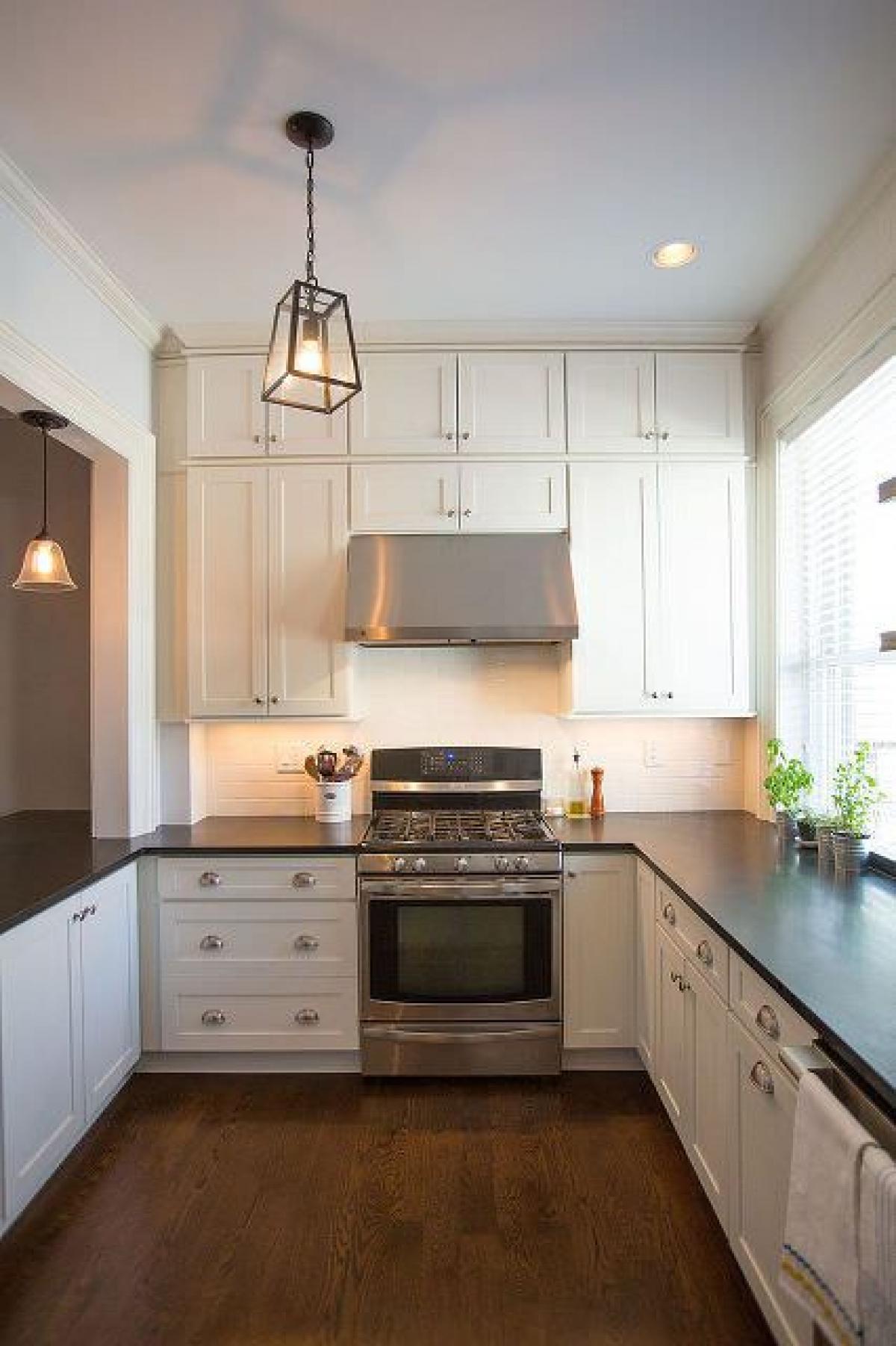 narrow u shaped kitchen designs photo - 5