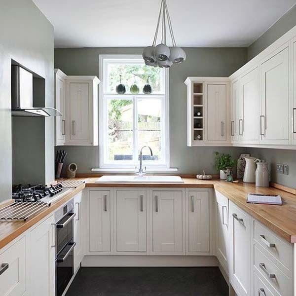 narrow u shaped kitchen designs photo - 8