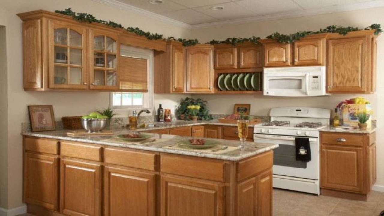 oak country kitchen designs photo - 3