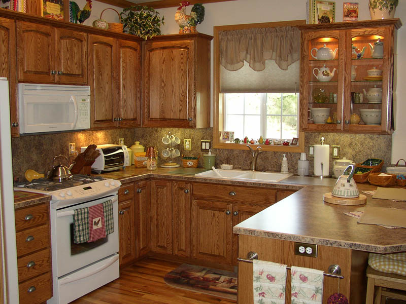 oak country kitchen designs photo - 4