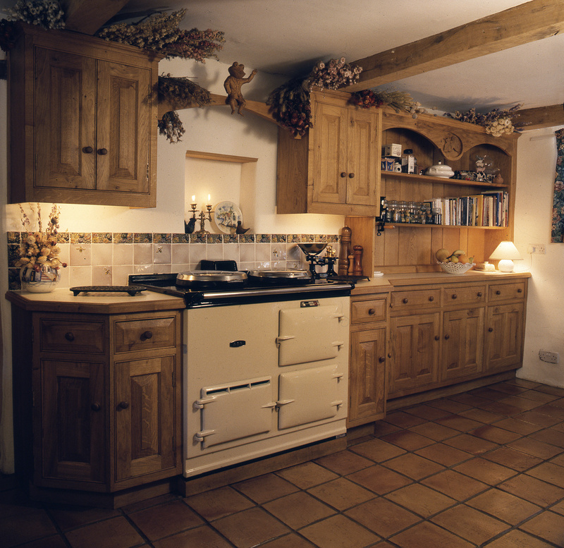 oak country kitchen designs photo - 8