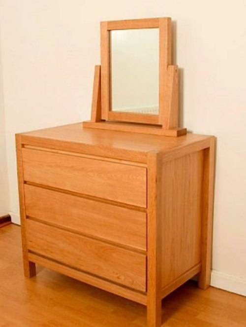 oak mirrored bedroom furniture photo - 2