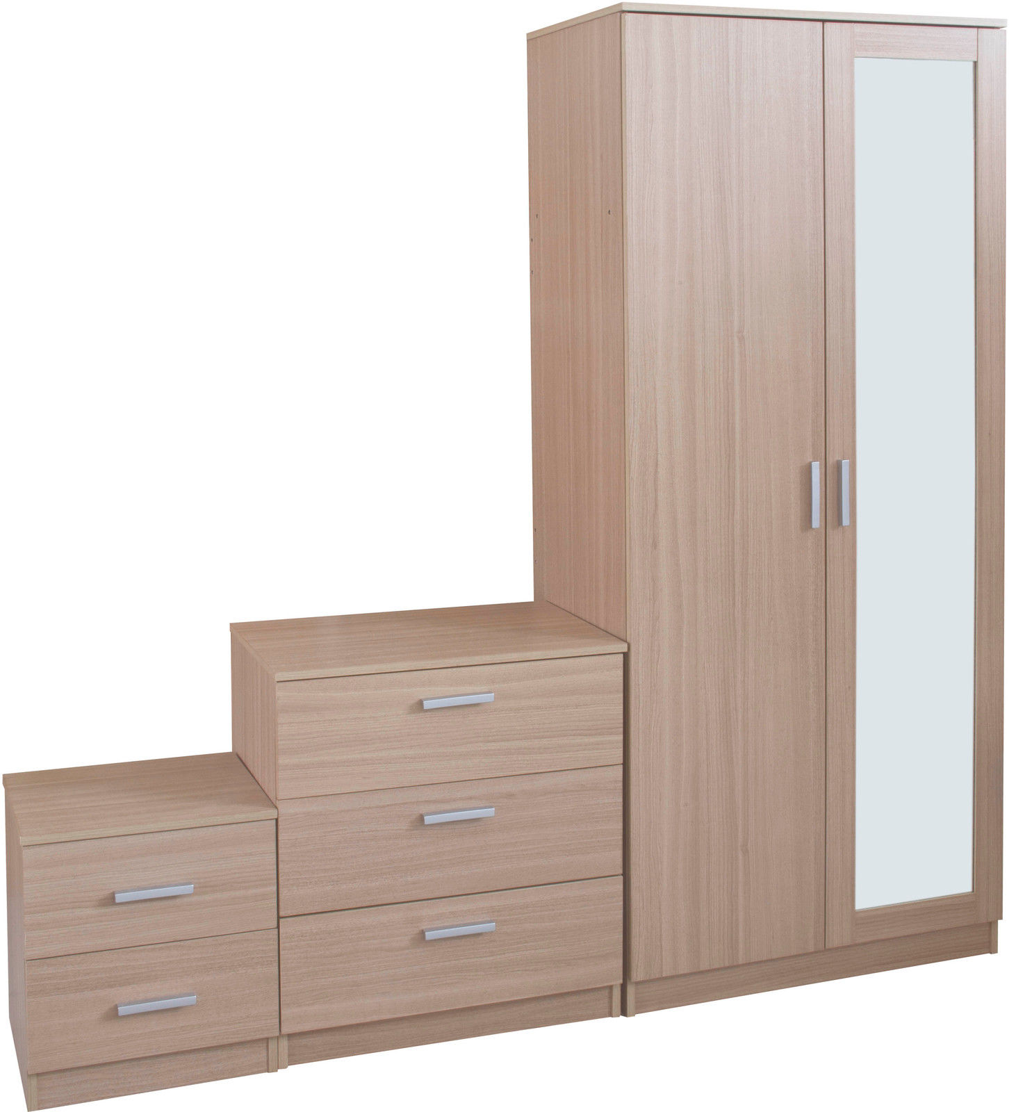 oak mirrored bedroom furniture photo - 6
