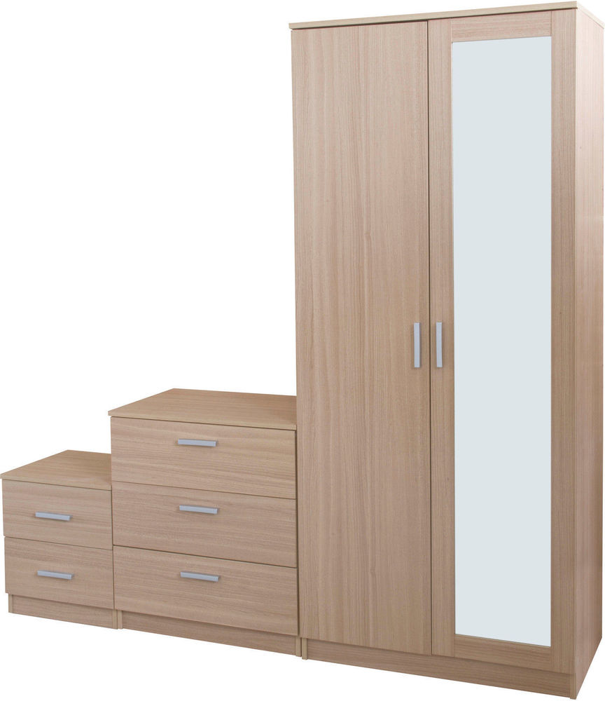 oak mirrored bedroom furniture photo - 9
