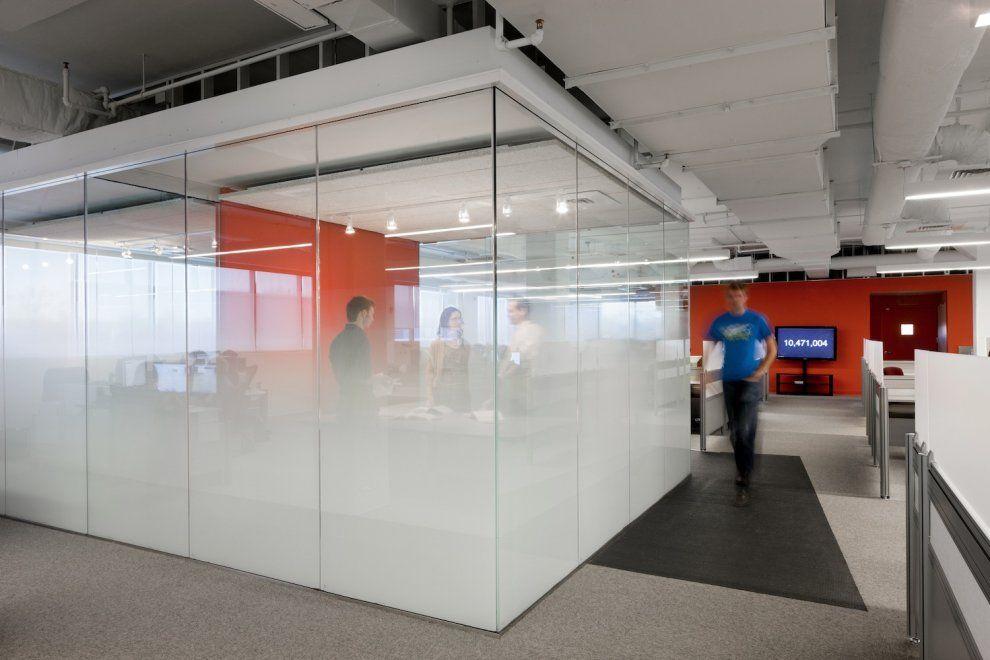 office interior glass walls photo - 4