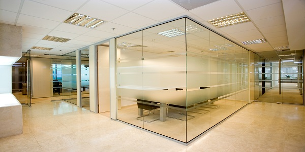 office partition glass walls photo - 10