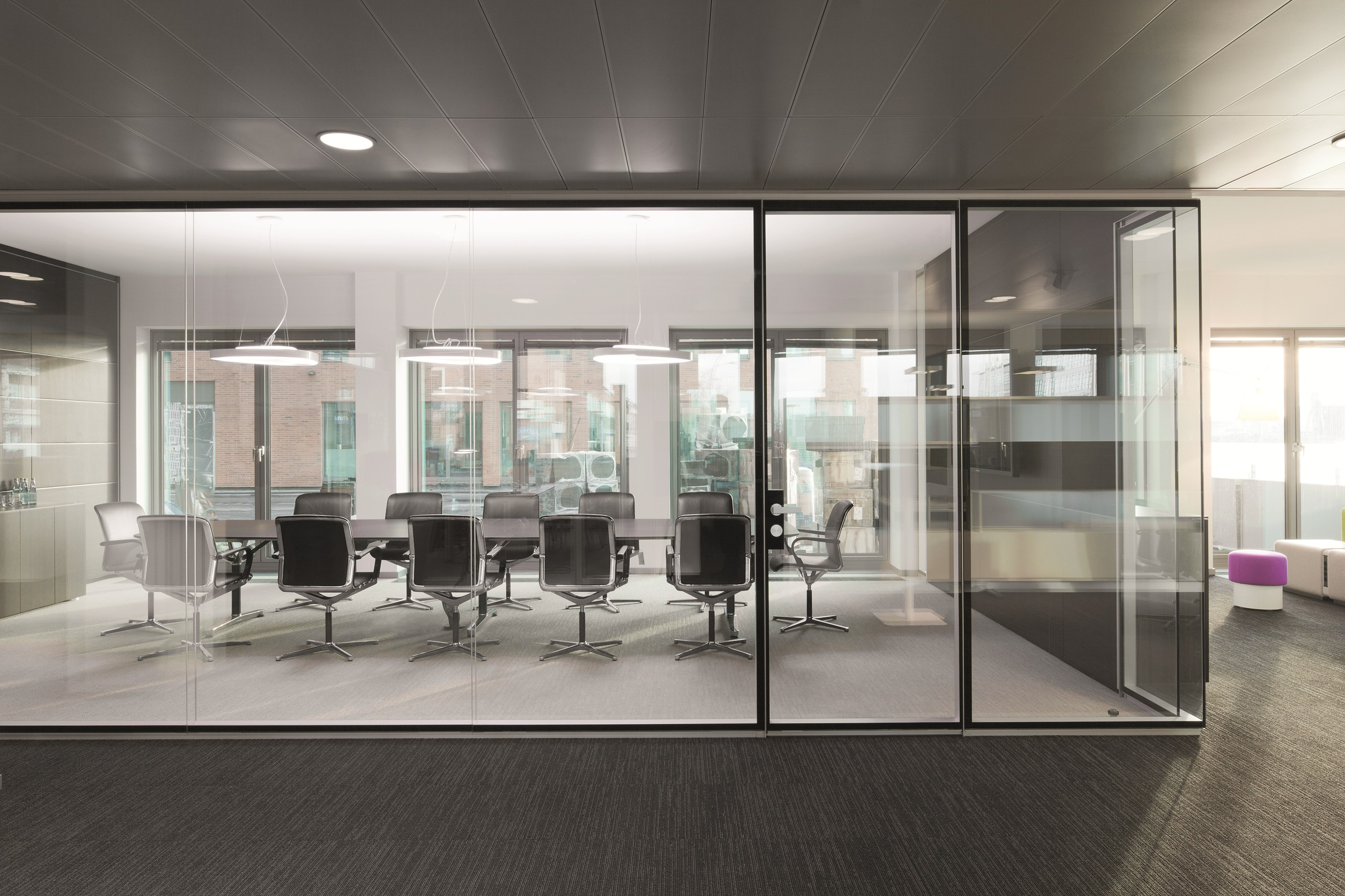 office partition glass walls photo - 5