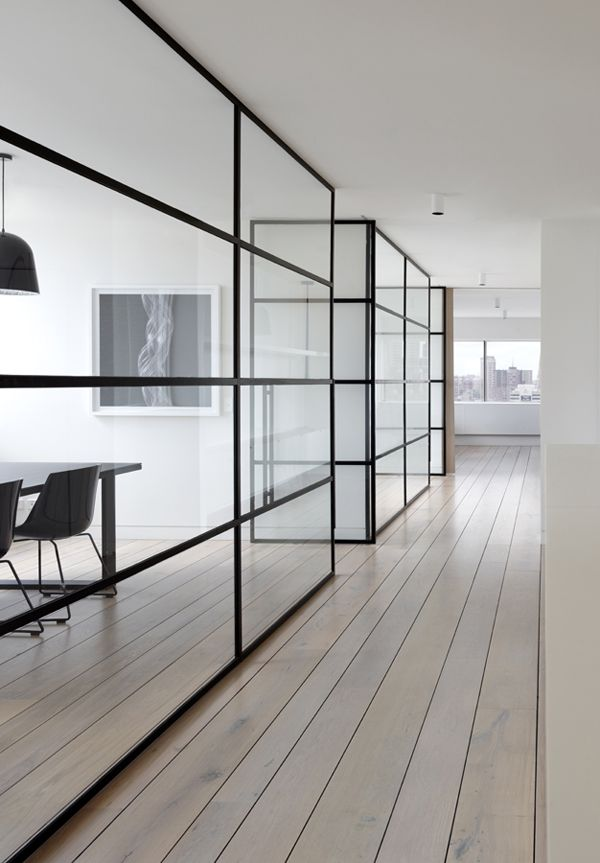office space with glass walls photo - 2